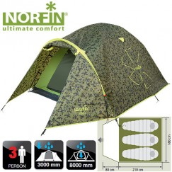 Трехместная палатка Norfin Ziege 3